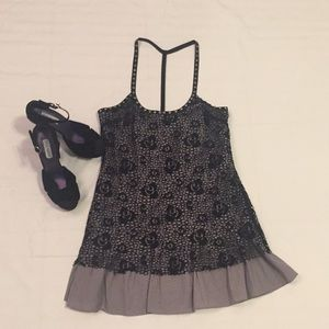 FREE PEOPLE - 8 - gray/black lace dress